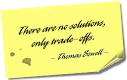 There are no solutions, only trade-offs.